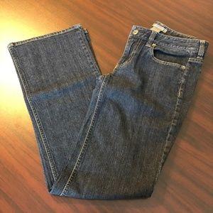 Ann Taylor Dark Wash Straight Leg Jeans